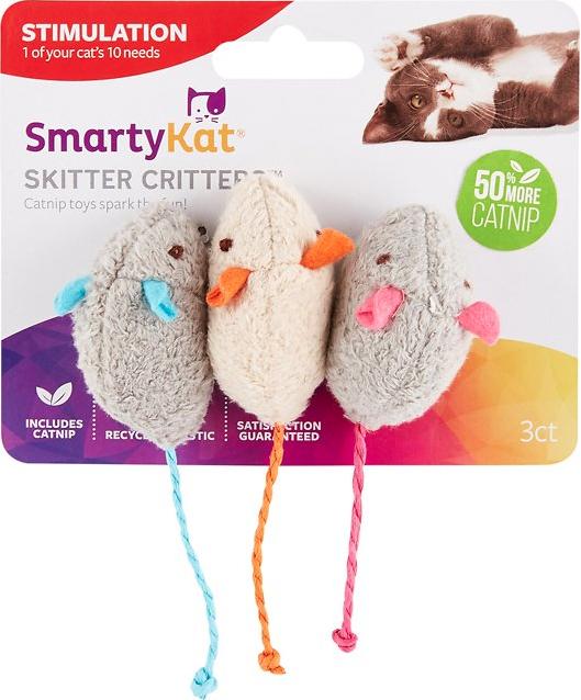 SmartyKat Skitter Critters Catnip Kitten Teething Toy