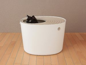 IRIS Top Entry Cat Litter Box for small apartment