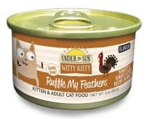 Witty Kitty Ruffle My Feathers Grain Free Flaked Cat Wet Food with Turkey & Turkey Liver wet cat food