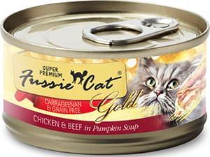 Fussie Cat Super Premium Chicken & Beef Formula in Pumpkin Soup Grain-Free Canned Cat Food