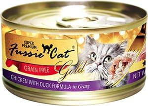 Fussie Cat Super Premium Chicken with Duck Formula in Gravy Grain-Free Canned Cat Food
