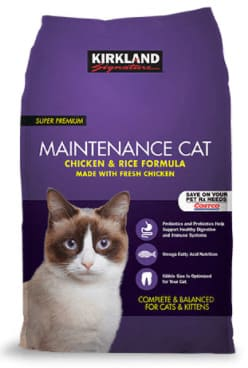 Kirkland Signature Maintenance Cat Chicken & Rice Formula dry cat food