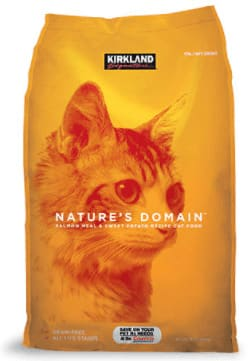 Kirkland Signature Nature's Domain Salmon Meal & Sweet Potato Formula for Cats dry cat food