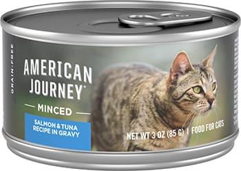 American Journey Minced Salmon & Tuna Recipe in Gravy Wet Cat Food