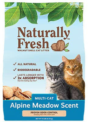 naturally fresh cat litter multi cat alpine meadow scent