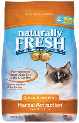 naturally fresh cat litter quick clumping herbal attraction