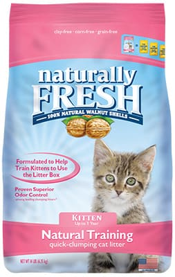 naturally fresh cat litter natural training