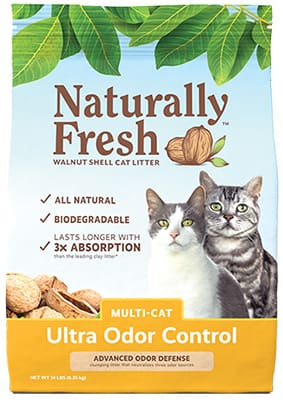 Naturally fresh cat litter ultra odor control