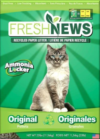 fresh news cat litter bag