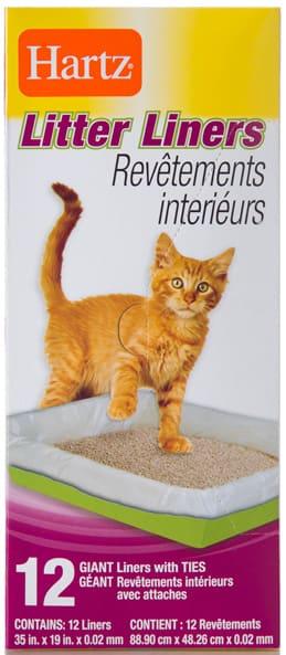 hartz cat litter pan liners box