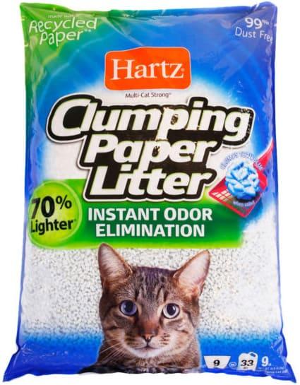 Hartz clumping paper cat litter bag