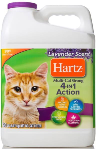hartz multi cat strong cat litter lavender scent bottle