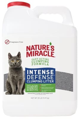 Nature's Miracle Intense Defense Odor Control Clumping Litter Fragrance Free