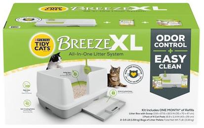 purina tidy cats breeze xl cat litter disposal system